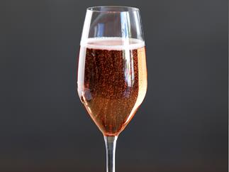 Strawberry and Champagne cocktail