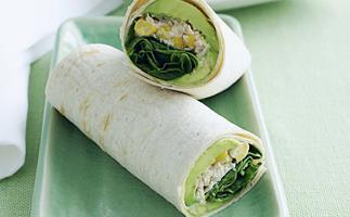 Tuna and sweet corn wrap
