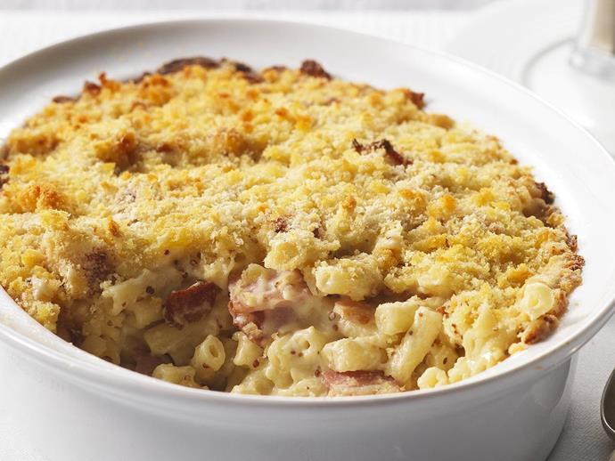 """When you really need cheering up, the only thing better than macaroni cheese is [macaroni cheese with oodles of bacon](https://www.womensweeklyfood.com.au/recipes/macaroni-cheese-6771