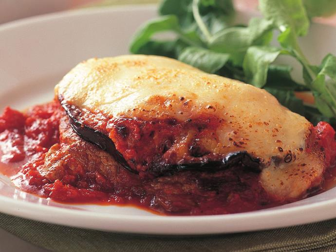 "**[Veal and eggplant parmigiana](https://www.womensweeklyfood.com.au/recipes/veal-and-eggplant-parmigiana-6765|target=""_blank"")**  Rich eggplant and tender veal make this parmigiana recipe an enduring classic, fresh sage and bocconcini finish the dish beautifully. This is one of those dishes that quickly become a firm family favourite."