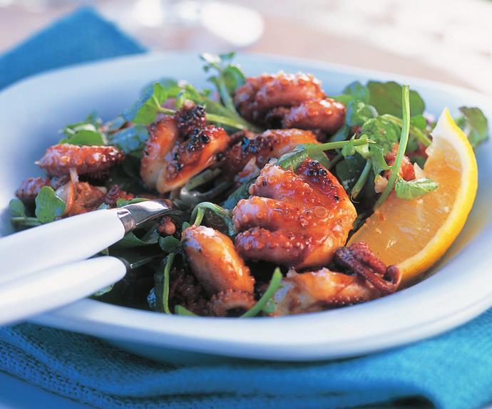 Chilli and garlic octopus