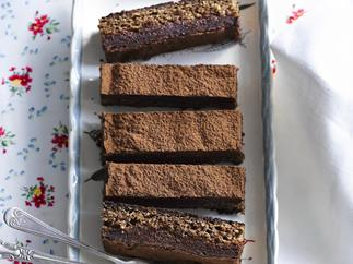 Chocolate hazelnut slice