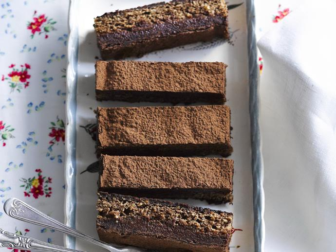 """**[Chocolate hazelnut slice](https://www.womensweeklyfood.com.au/recipes/chocolate-hazelnut-slice-6851