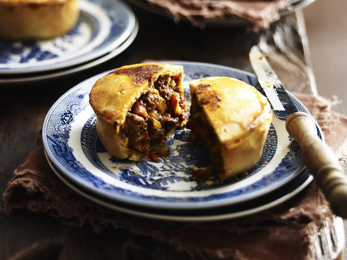 "A good shiraz, the king of the reds, adds depth and complexity to the gravy in these delicious little [beef shiraz pies](https://www.womensweeklyfood.com.au/recipes/beef-shiraz-pies-19434|target=""_blank"")."