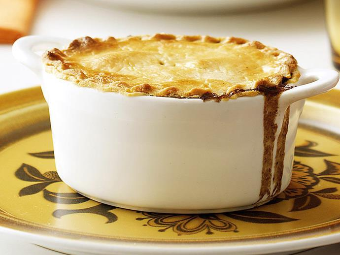 """**[Beef and red wine pies](https://www.womensweeklyfood.com.au/recipes/beef-and-red-wine-pies-8940