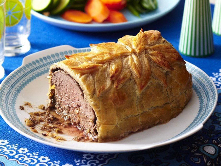 "A tender [beef wellington](https://www.womensweeklyfood.com.au/recipes/beef-wellington-17318|target=""_blank"") wrapped in crispy pastry is a classic family dinner. Get creative with cookie cutters or stencils to decorate this dreamy dish."