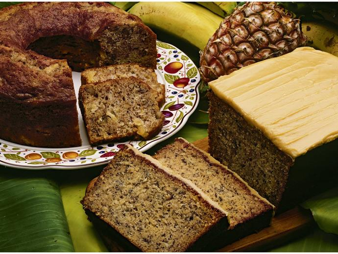 """This [banana loaf recipe](https://www.womensweeklyfood.com.au/recipes/banana-caramel-loaf-6913
