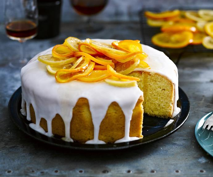 Buttery citrus orange and lemon cake