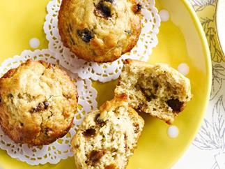Banana and date muffins