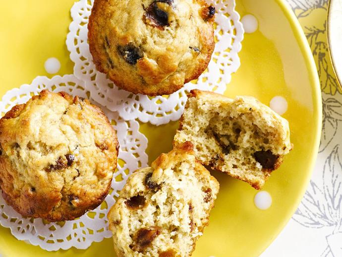 """These [banana and date muffins](https://www.womensweeklyfood.com.au/recipes/banana-and-date-muffins-6697
