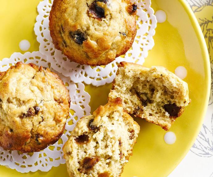 Banana and date muffins