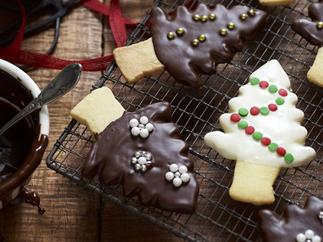 Christmas tree shortbreads