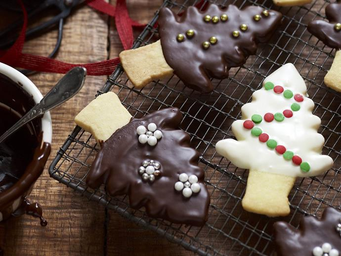"""[Christmas tree shortbreads](http://www.foodtolove.com.au/recipes/christmas-tree-shortbreads-14996