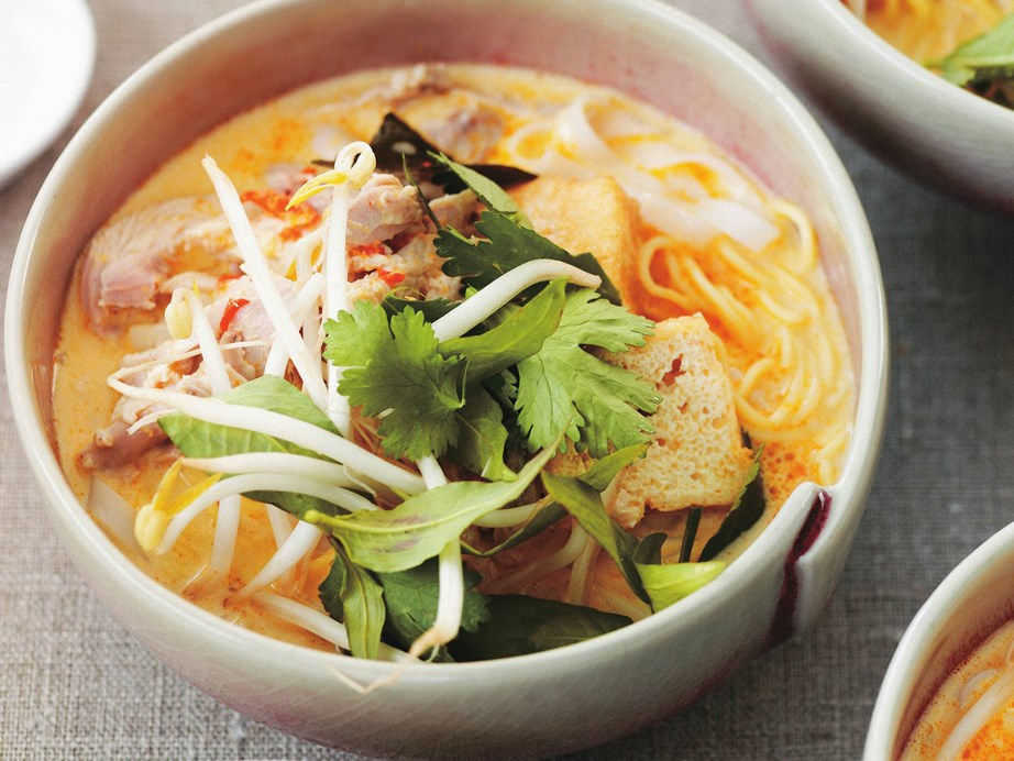 "It's a little bit of a cheat to include a [chicken laksa](https://www.womensweeklyfood.com.au/recipes/chicken-laksa-6820|target=""_blank"") in a curry collection, but with its punchy infusion of spices and delicate coconut aroma we feel it deserved a look in."