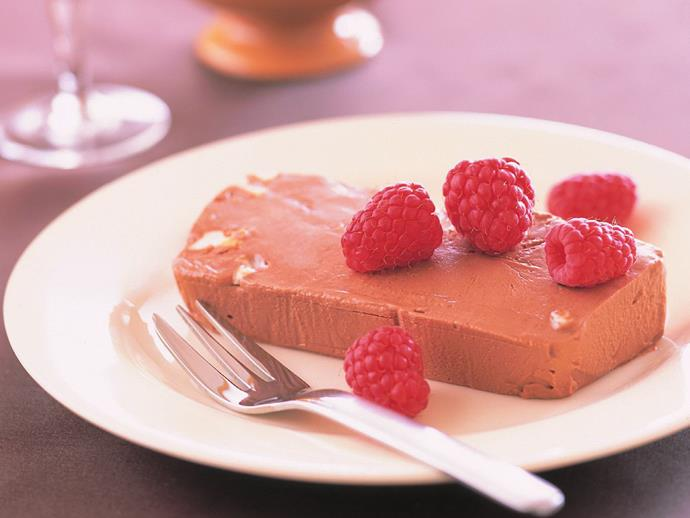 """This [chocolate nougat frozen parfait](https://www.womensweeklyfood.com.au/recipes/chocolate-nougat-frozen-parfait-6758