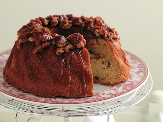 """Finished with a drizzle of toffee, this [coffee and walnut cake](https://www.womensweeklyfood.com.au/recipes/coffee-and-walnut-cake-6891