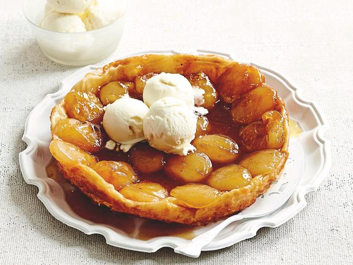 """**[Apple tart with caramel ice-cream](https://www.womensweeklyfood.com.au/recipes/apple-tart-with-caramel-ice-cream-7033