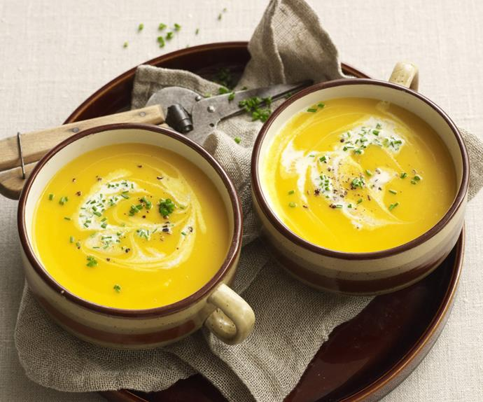 Slow-cooked pumpkin soup