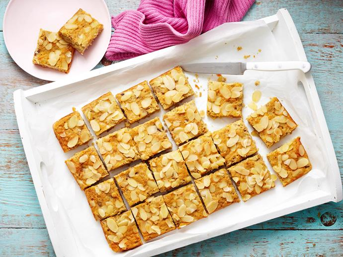 "Give yourself a kick-start to the day with these super tasty [almond energy bars](https://www.womensweeklyfood.com.au/recipes/almond-energy-bar-28627|target=""_blank""), made with the goodness of oats, coconut and nuts. It'll keep you sustained throughout the day to prevent mindless snacking."