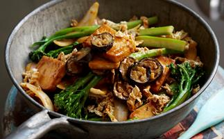 Satay tofu and eggplant