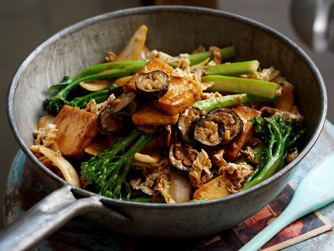 "Quick and tasty, this flavoursome [satay tofu and eggplant stir-fry](https://www.womensweeklyfood.com.au/recipes/satay-tofu-and-eggplant-28629|target=""_blank"") is packed full of goodness. It can be ready in no time at all for delicious weeknight dinner."