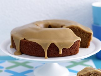 Ginger cake with caramel icing