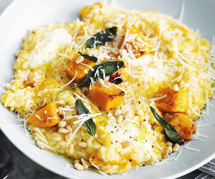 Creamy pumpkin risotto