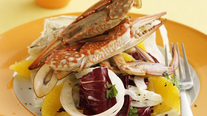 Crab with fennel salad