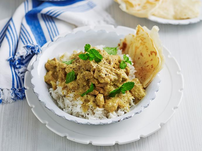 "Warm, hearty and wonderfully fragrant, this beautiful [chicken korma recipe by Julie Goodwin](https://www.womensweeklyfood.com.au/recipes/julie-goodwins-chicken-korma-28633|target=""_blank"") is slow cooked for three hours to create intense Indian flavours and tender, moist meat that melts in your mouth."
