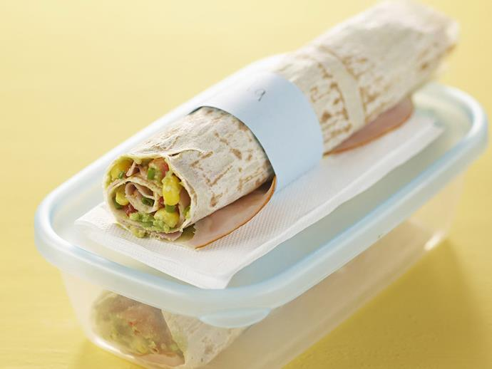 "A [guacamole and ham wrap](https://www.womensweeklyfood.com.au/recipes/guacamole-and-ham-wrap-6999|target=""_blank"") is an easy way to make your childs lunch tasty and nutritious. Wraps are often a hit with those who dislike ordinary sandwiches."