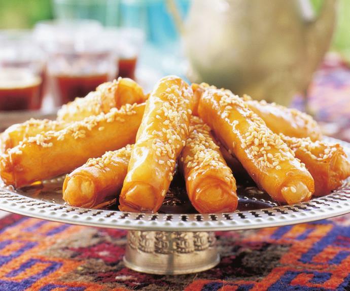 Honey almond pastries