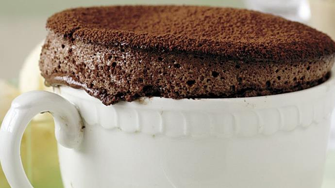 Hot chocolate soufflés