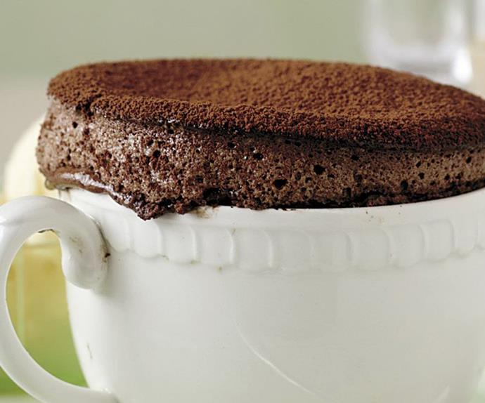 Hot chocolate soufflés