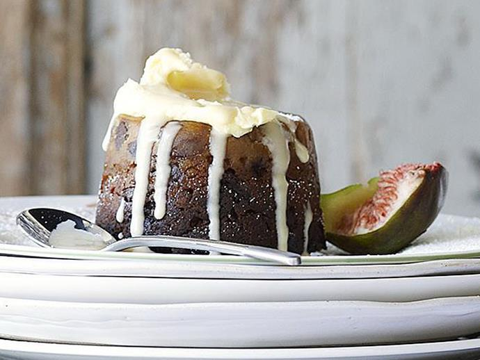 """These [little Christmas puddings](https://www.womensweeklyfood.com.au/recipes/little-christmas-puddings-15847