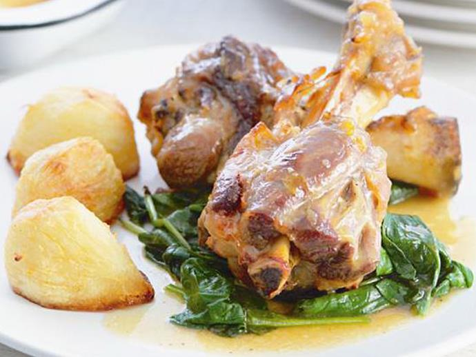 """**[Maple syrup-glazed lamb shanks](https://www.womensweeklyfood.com.au/recipes/maple-syrup-glazed-lamb-shanks-7067