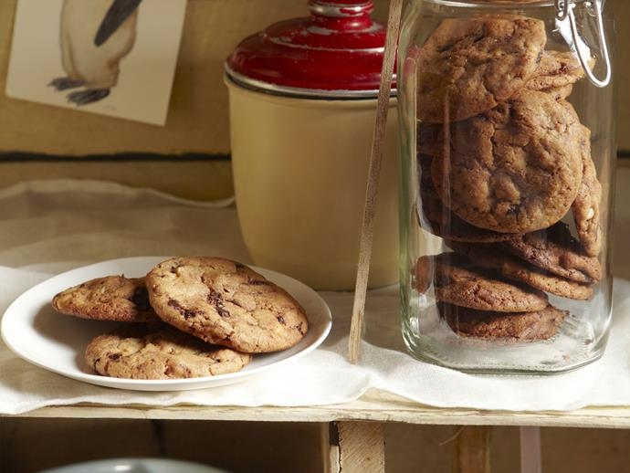 """**[Mega choc-chip cookies](https://www.womensweeklyfood.com.au/recipes/mega-choc-chip-cookies-6698
