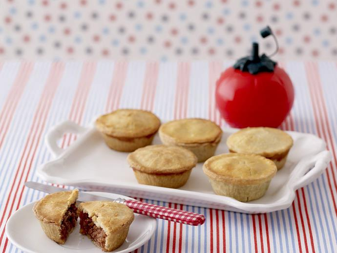 """**[Mini meat pies](https://www.womensweeklyfood.com.au/recipes/mini-meat-pies-8343