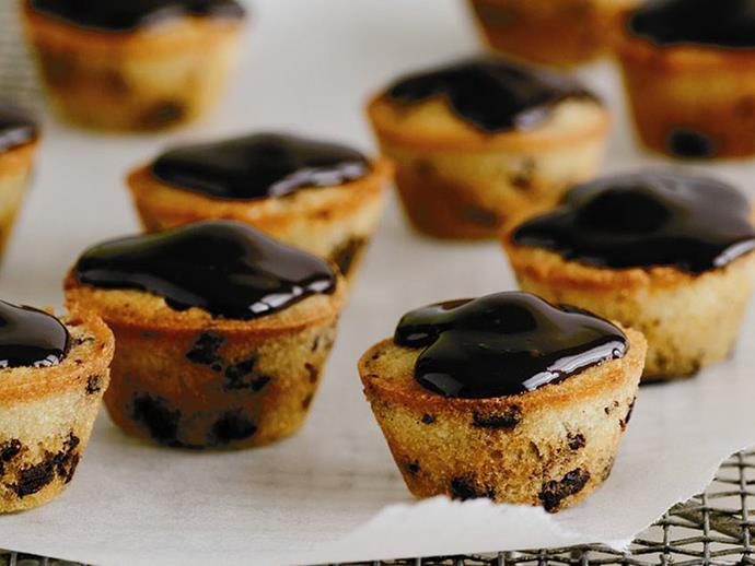 """These [mini choc chip friands](https://www.womensweeklyfood.com.au/recipes/mini-choc-chip-friands-6530