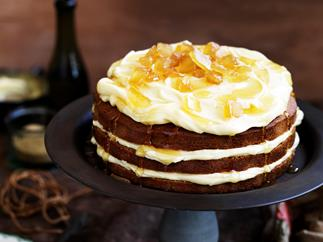 Spiced tea cake WITH HONEY FROSTING
