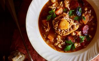 Spanish oxtail and chickpea soup