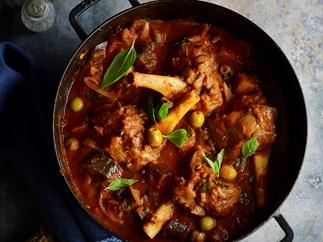 Lamb shanks and eggplant stew