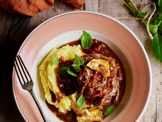 "[Sun-dried tomato and balsamic lamb stew.](https://www.womensweeklyfood.com.au/recipes/sun-dried-tomato-and-balsamic-lamb-stew-28656|target=""_blank"")"