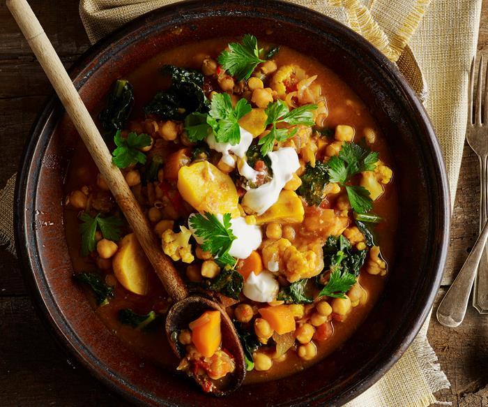 Warming vegetarian stews and casseroles