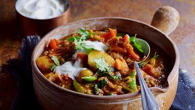 Split pea and capsicum curry