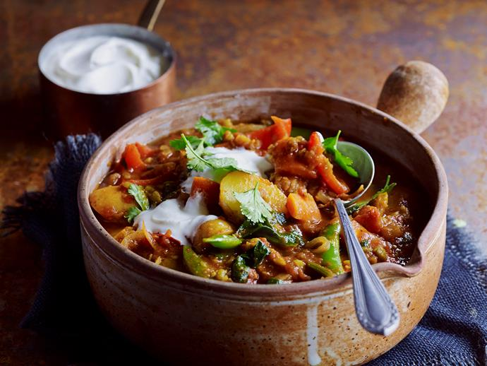 "This delicious [split pea and capsicum curry](https://www.womensweeklyfood.com.au/recipes/split-pea-and-capsicum-curry-28670|target=""_blank"") is packed full of flavour, and is sure to be a family favourite."
