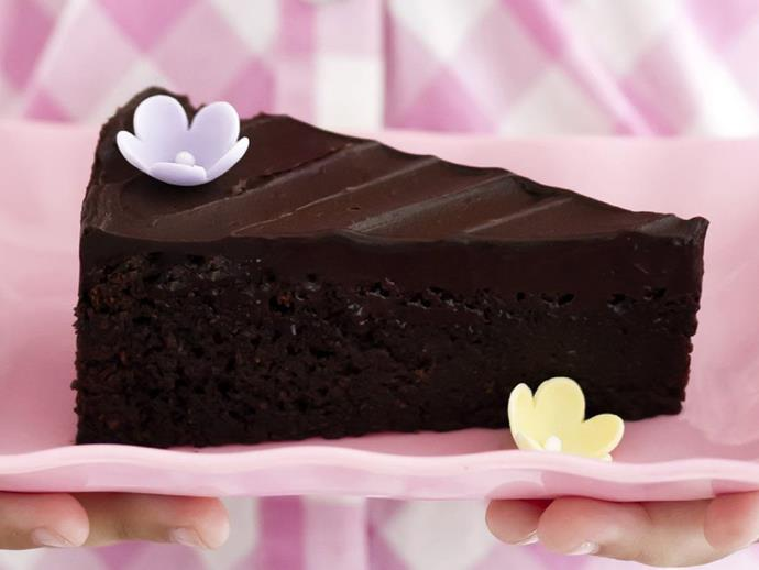 """**[Moist flourless choc-nut cake](https://www.womensweeklyfood.com.au/recipes/moist-flourless-choc-nut-cake-7411