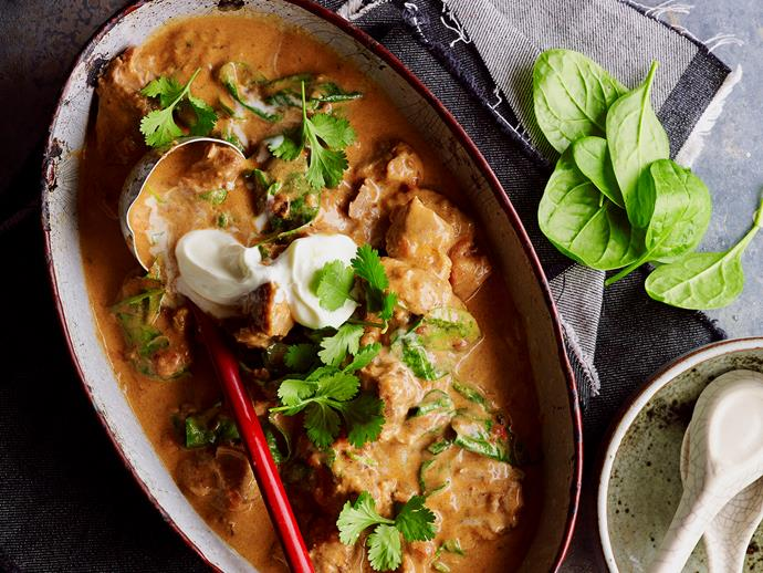 "Packed with bold flavour, this deliciously [hearty peppered pork curry](https://www.womensweeklyfood.com.au/recipes/peppered-pork-curry-28674|target=""_blank"") is perfect for any night of the week."