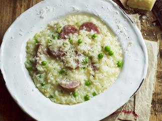 Pork and fennel sausage risotto