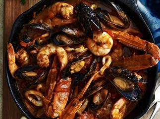 Portuguese-style seafood stew