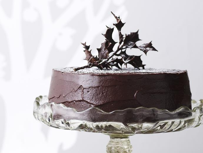 "**Rich chocolate fruit cake** <br><br> This decadent cake is packed full of the goodness of cherries, raisins and sultanas, then coated in a rich, dark chocolate frosting to create this divine dessert that's worthy of any celebration. <br><br> [**Read the full recipe here**](https://www.womensweeklyfood.com.au/recipes/rich-chocolate-fruit-cake-12662|target=""_blank"")"